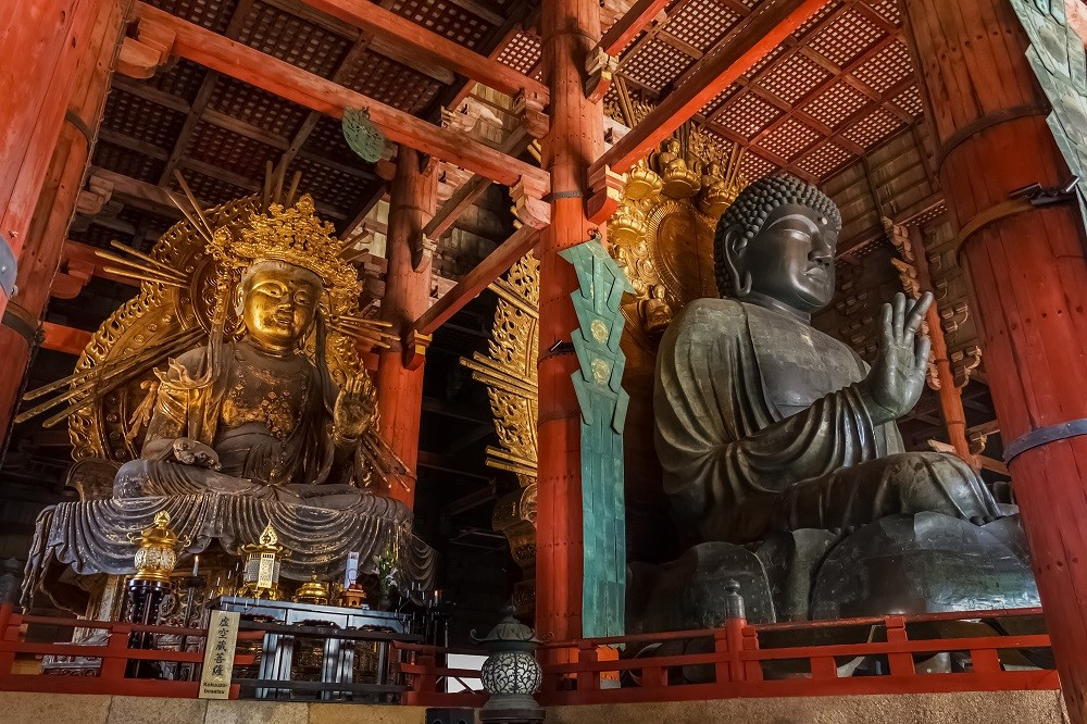 Daibutsu with Kokuzo Bosatsu at Todaiji Temple in Nara